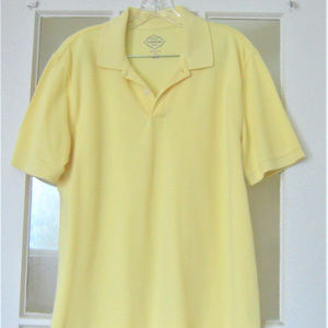 St Johns Bay Mens Sz M Yellow Cotton Polo Shirt
